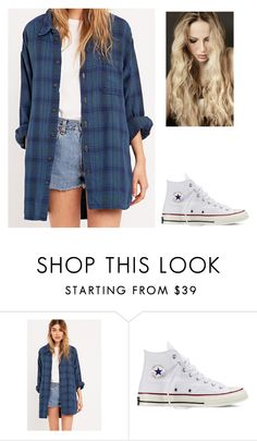 """""""Shame"""" by katielewis14 ❤ liked on Polyvore featuring Urban Renewal and Converse"""