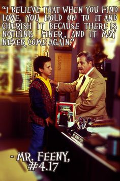 Wise words from Mr. Feeny