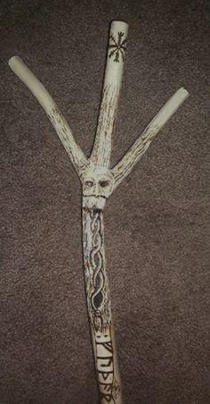 "Magickal Ritual Sacred Tools:  ""#Rune #Staff Detail 2,"" by runehammer9, at deviantART."