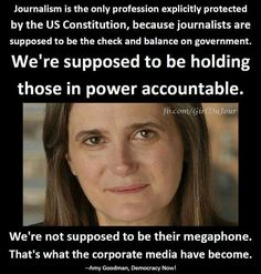 Amy Goodman, Democracy Now Amy has covered resistance to Dakota Access Pipeline live.
