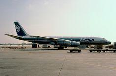 https://flic.kr/p/b9Ydb2 | Air New Zealand, McDonnell Douglas DC-8-50F | LAX Feb., 1982