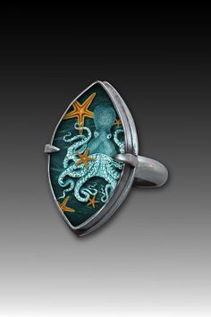 20,000 Leagues Under the Sea Ring by Dawn Estrin (Silver Ring) | Artful Home
