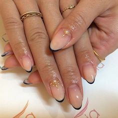 Nude Nails with Navy Tips – LadyStyle We would like to thank you if you would like … - Nail Designs 2019 Frensh Nails, Nude Nails, Hair And Nails, Acrylic Nails, Coffin Nails, Black Nails, Stiletto Nails, Nail Color Trends, Nail Colors
