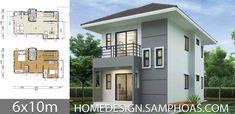 Home Design Plans House Architecture - Modern 2 Storey House Design, Small House Design, Modern House Design, 2 Bedroom House Plans, Dog House Plans, Planes, Shed Plans 12x16, House Construction Plan, Concrete Houses