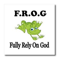 FROG Fully Rely On God Pin Card 600 This adorable little