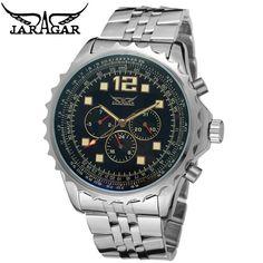 $22.90 (Buy here: https://alitems.com/g/1e8d114494ebda23ff8b16525dc3e8/?i=5&ulp=https%3A%2F%2Fwww.aliexpress.com%2Fitem%2FNew-Luxury-Watch-Hands-Day-Week-24H-Men-Luminous-Hands-Auto-Mechanical-Watches-Wristwatch-Free-Ship%2F852028994.html ) Original JARAGAR Luxury Montre Homme Watch Men's 6 Hands Day/Week/24H Auto Mechanical Watches Wristwatch Free Ship for just $22.90