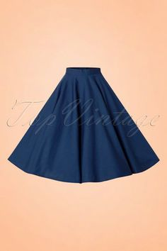 Bunny 50s Paula Swing Skirt in Navy online kopen