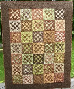 Chexx Mix Quilt by EndlessHoursQuilting on Etsy, $265.00