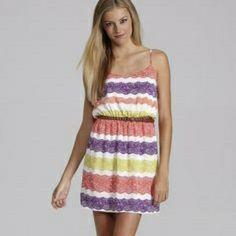 Gb Festive Summer Lace Print Dress