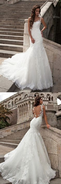 vintage sleeveless long lace overlay tulle wedding dress