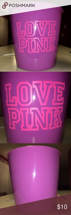"NWT CUSTOM PURPLE LOVE PINK TRASH CAN BRAND NEW 11"" PURPLE ""LOVE PINK"" TRASH CAN custom made by me;) bundle my listings and $AVE!!! I CAN DO WHITE or BLACK TRASH CANS WITH PINK LETTERS TOO! CHECK OUT MY DIFFERENT ITEMS! ... Let me know IF U Have ANY IDEAS! Makeup Brushes & Tools"
