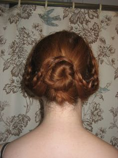 Vintage Hairstyles Tutorial The Seamstress of Avalon: Civil War Hair Tutorial Civil War Hairstyles, Historical Hairstyles, Braided Hairstyles, Cool Hairstyles, Updo Hairstyle, Hairdos, Wedding Hairstyles, Victorian Era Hairstyles, Steampunk Hairstyles