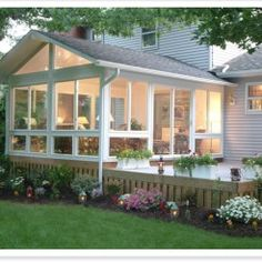 This is a Grandview Sunroom four season sunroom. Have this room added to your home with a heating/cooling system and you will be able to enjoys the outdoors year round. sunroom ideas Three & Four Season Sunrooms Outdoor Rooms, Indoor Outdoor, Outdoor Kitchens, Outdoor Dining, Patio Plus, Four Season Sunroom, Screened Porch Designs, Screened Porches, Enclosed Porches