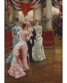 """""""Les Demoiselles de Province"""" by James Tissot, ca. 1883-1885."""