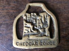 Vintage English Cheddar Gorge horse brass harness martingale tack decoration lucky charm circa 1950-60's Purchase in store here http://www.europeanvintageemporium.com/product/vintage-english-cheddar-gorge-horse-brass-harness-martingale-tack-decoration-lucky-charm-circa-1950-60s/