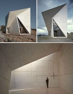 Spain Chapel in Valleacerón, designed by Spain-based architect S-M.A.O. Sancho-Madridejos Architecture Office www.sancho-madridejos.com