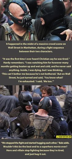 Best end to a superhero movie ever. (Well, it's not actually a superhero movie b/c Batman isn't a 'super'hero... but let's not quibble.)