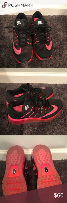 Nike Air Max Black pink and orange Nike air max Nike Shoes Athletic Shoes