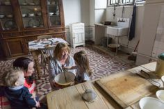 Visitors in the Kitchen at Sudbury Hall and the National Trust Museum of Childhood, Derbyshire Sudbury Hall, Museum Of Childhood, National Trust, Derbyshire, Victorian, Antiques, Kitchen, House, Furniture