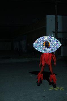 Aliens in LA. Eye Guy lurking in the night. Looking to see something. #aliens #aliensinla www.aliensinla.com