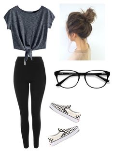 """Untitled #69"" by haileymagana on Polyvore featuring Topshop, Vans and EyeBuyDirect.com"
