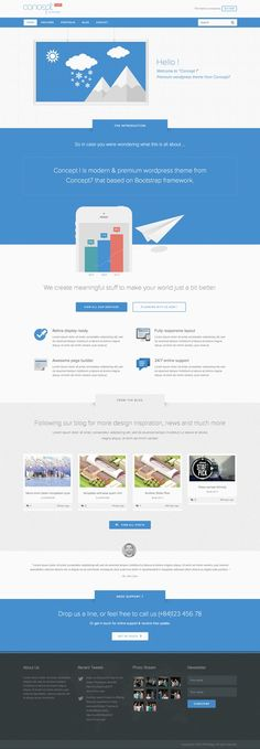 Concept 1 - Modern and Creative Wordpress Theme