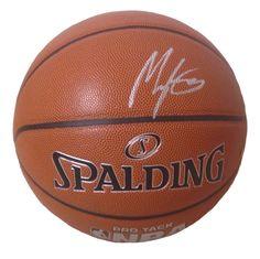 Myles Turner Autographed Spalding NBA Indoor / Outdoor Basketball, Proof Photo