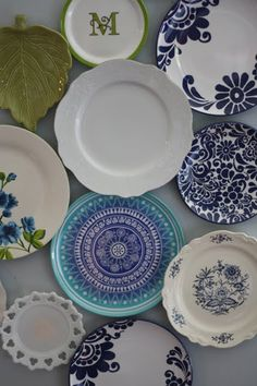 a neat idea of something I could do with all of the plates that my grandma has given me that currently sit in a box!