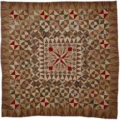 Many of the cottons date from the 1820s. A patchwork spread
