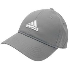 e1de6fb4b31 adidas Mens Golf Sports Flexible Peak Cap Hat Touch And Close Brand New Grey