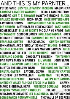 Gus's nicknames in Psych