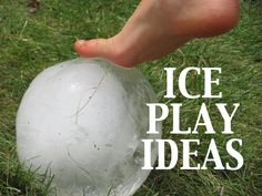 Prek+K Sharing: Ice Play Ideas, article full of ice + art + science!