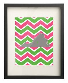 Sweet Briar College Virginia State Map 8x10 by PaperFrecklesCampus, $15.00