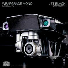DJI Mavic Pro用ラッピング・スキンシール WRAPGRADE MONO JET BLACK / ジェットブラック はわずかなグリッターを含む黒。高い光沢とラメ感が、普通の黒ではない独特の高級感をあなたのMAVIC PROにもたらします。