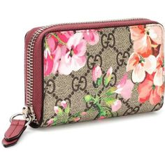 517269a511f Gucci Blooms GG Supreme printed canvas wallet (€175) ❤ liked on Polyvore  featuring bags