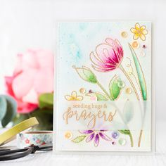 This Spring Flowers set is lovely for a watercolored wild flower meadow. The sweep of the images just brings to mind the stems being buffeted by the breeze.