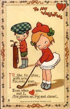 golf vintage valentine