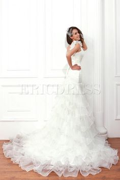 Gorgeous Trumpet/Mermaid One-shoulder Sweetheart Ruffling Renata's Wedding Dress 2012 Spring Trends