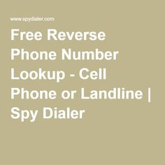 spy a phone number