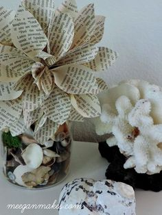 DIY Book Page Flowers