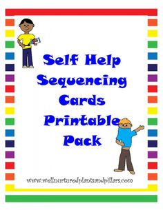 {FREE} Self Help Skills Sequencing Cards Printable Pack- Getting Dressed, Tying…