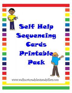 {FREE} Self Help Skills Sequencing Cards Printable Pack- Getting Dressed, Tying Shoes, Brushing Teeth