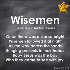 Reading with Mrs. D: Wisemen Christmas Song Reading with Mrs. D: Wisemen Christmas Song Kids Christmas Poems, Christmas Songs For Toddlers, Preschool Christmas Songs, Christian Christmas Songs, Christmas Concert, Preschool Music, Christmas Plays, Childrens Christmas Songs, Christmas Music