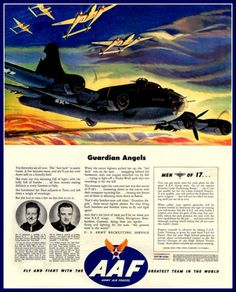 US Army Air Force Advert Print World War II by BloominLuvly