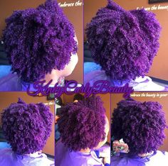 PURPLE NATURAL HAIR