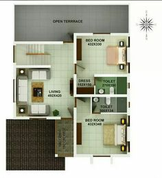 Floor Plan (upstairs - Contemporary Modern Home)