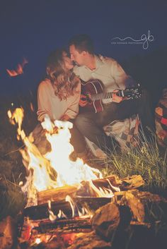 @ginabohananphotography  Such a wonderful spring afternoon and night doing this engagement shoot! campfires- engagement session-s'mores-campfire photo shoot