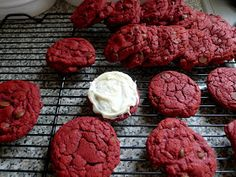Silver Pencils: Red Velvet Cake Batter Chocolate Chip Cookies with Cream Cheese Frosting... Got That?