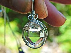 Herkimer Diamond Wire Wrapped Pendant-Herkimer by herkimerjewelry