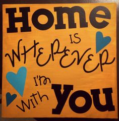 16x20 Canvas Quote Home Is Wherever I'm With by allthingscheerful, $20.00